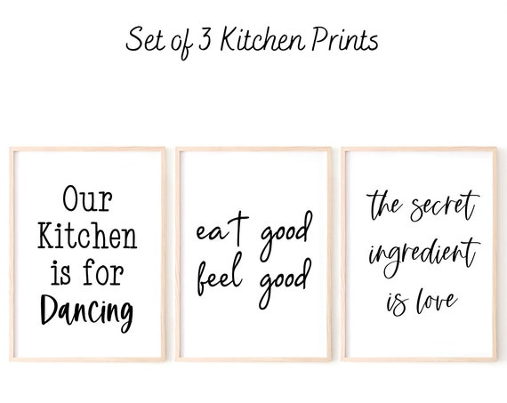 Kitchen Wall Art, Kitchen Quote Prints, Dining Room Prints, Home Decor