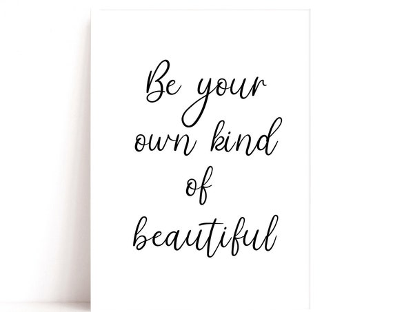 Beautiful Quote, Bedroom Decor, Gifts for Her, Dressing Room Print, Feminism Quote