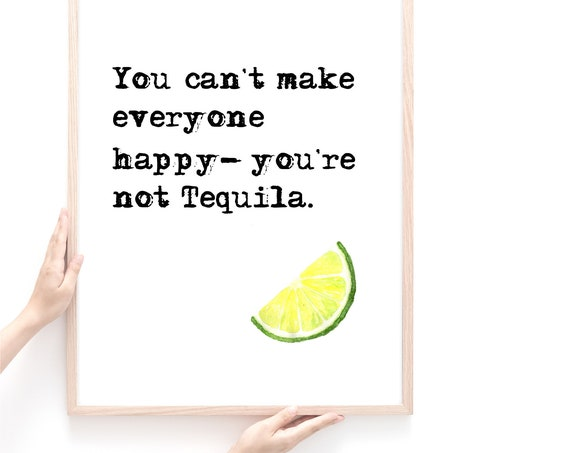 Tequila Wall Art, Alcohol Theme Gift, Tequila Poster Print, Bar Wall Decor Sign, Gift for Friend