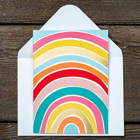 Gift Card, Thank You Card, Handwritten Note, Colourful Card