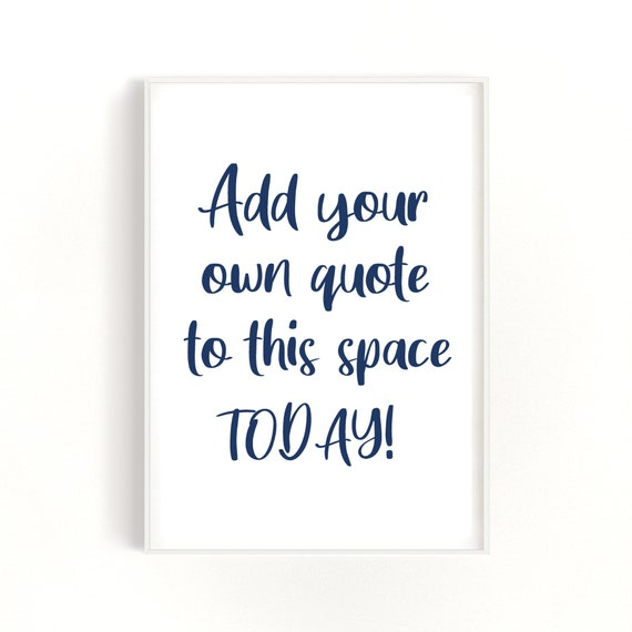 Custom Print, Your Text Here, Cotton Quote Print, Unique Gift Idea