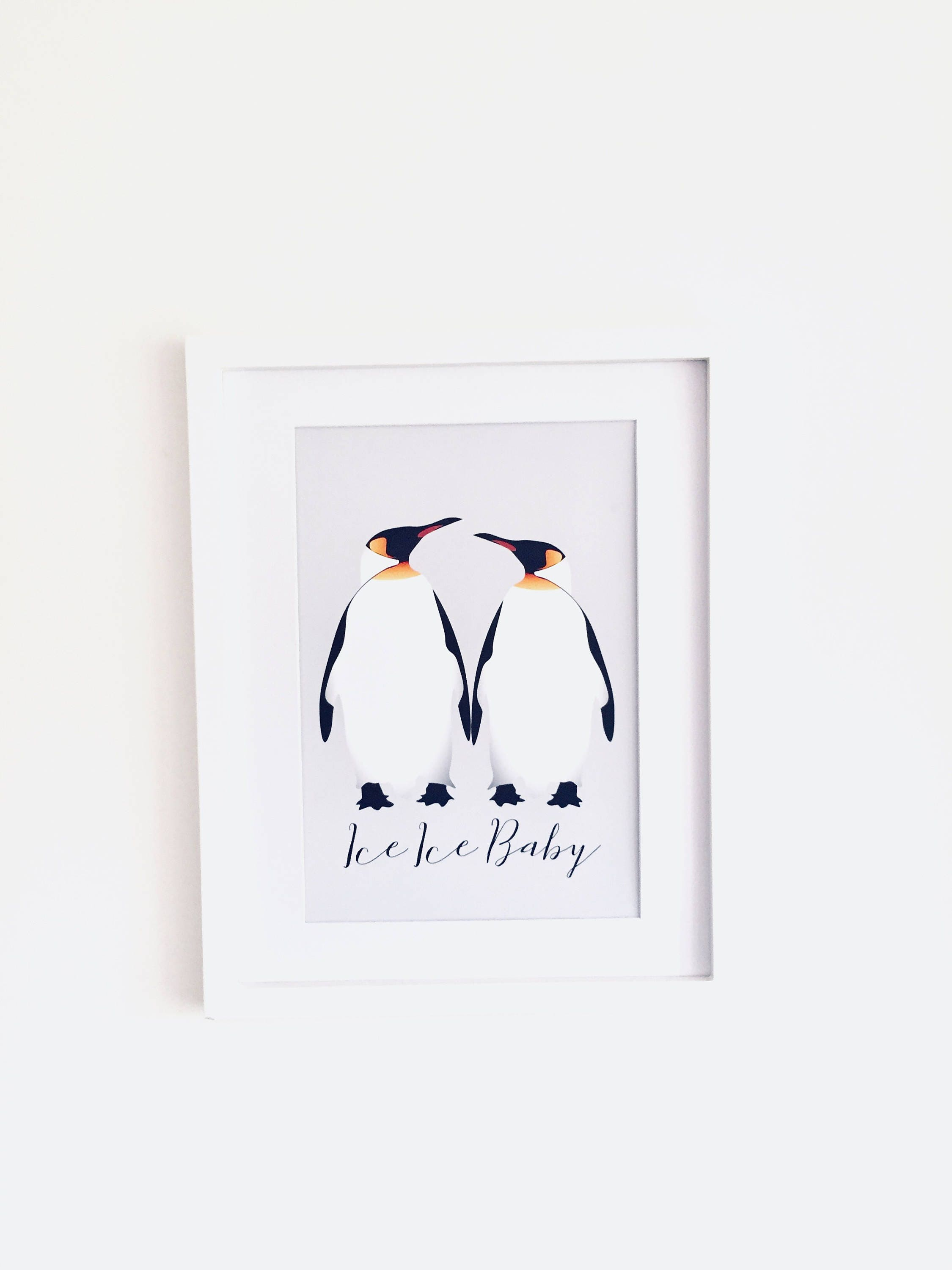 Penguin Picture Quote Print Wall Art Gift for Girlfriend
