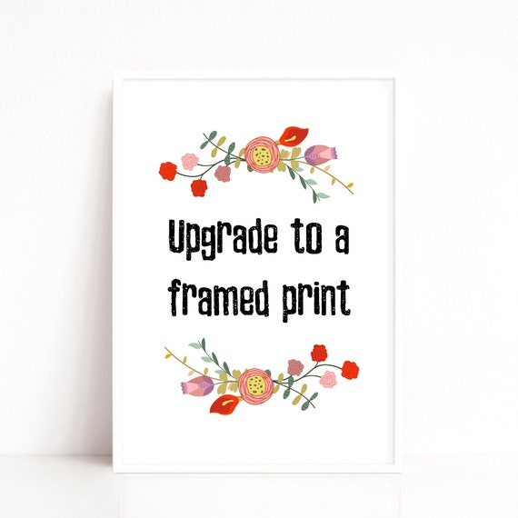 A4 A3 A2 Framed Print, Frame Quote, White Timber Frame, Match with Any Print, Custom Framing