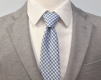 "The ""Azul"" Gingham Tie"