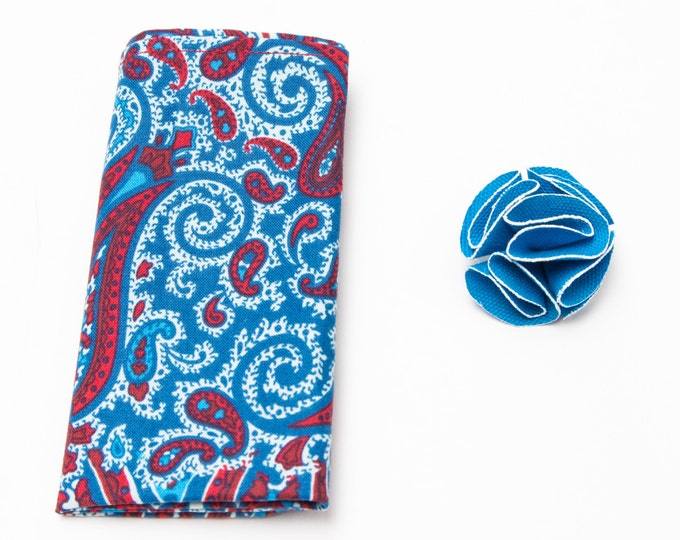 Blue Square and Flower Pack