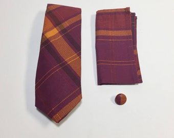 Purple and Orange Plaid Gift Pack