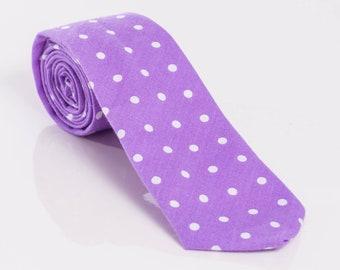 """The """"Very Purpley"""" Polka Dot Tie"""