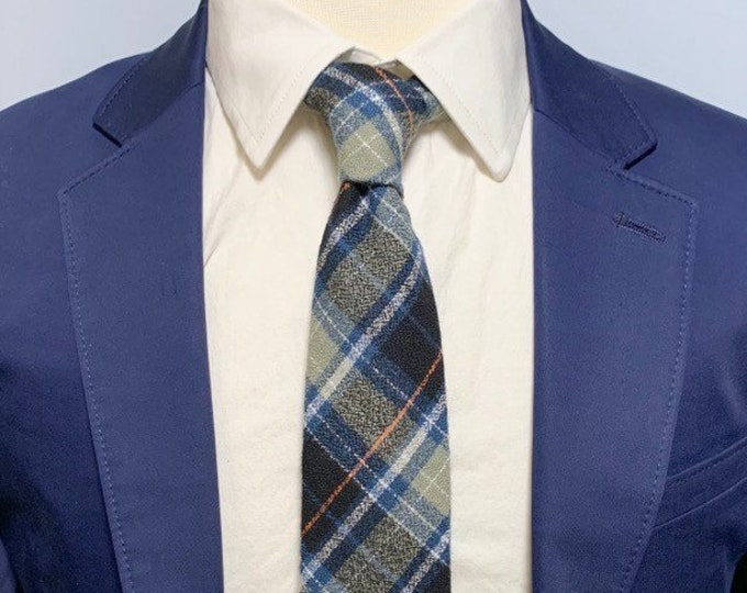 """Featured listing image: The """"Maine Life"""" Plaid Tie"""