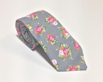 """The """"Sugar Magnolia"""" Floral Tie."""