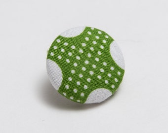 """Connect the Dots"" Polka Dot Lapel Button"