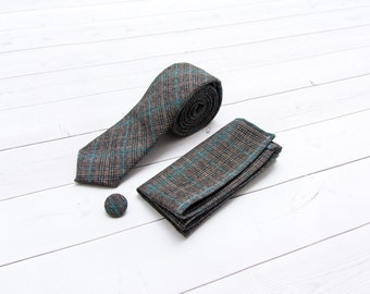 Brown and Blue Plaid Gift Pack