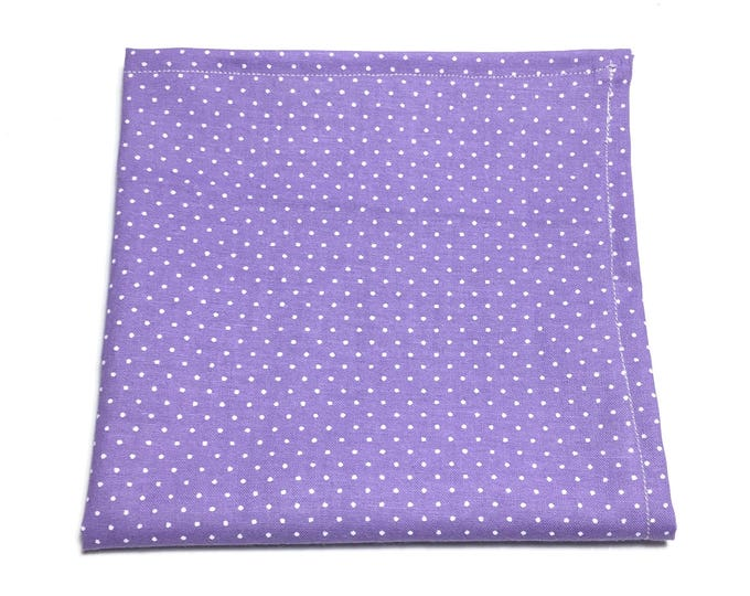 """Featured listing image: The """"One Eyed, One Horned, Flying Purple People Eater"""" Pocket Square."""