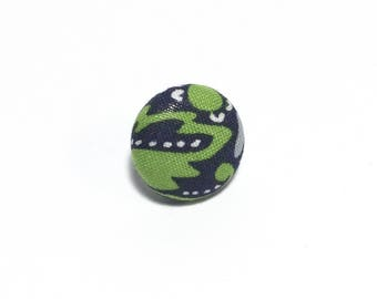 """Abstraction"" Floral Lapel Button"