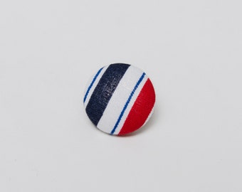 """So Was Red"" Striped Lapel Button"