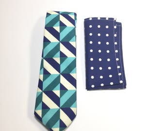 """The """"Fortune Favors Melancholy Blues"""" Tie and Square Pack"""