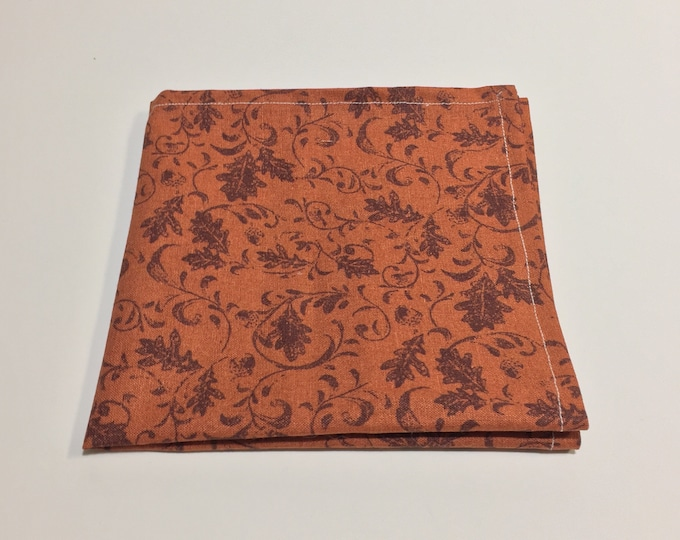"""The """"Falling Leaves"""" Pocket Square."""