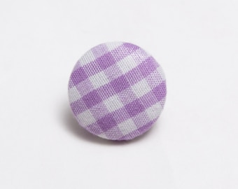 """Purple Haze"" Gingham Lapel Button"