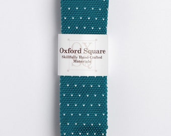 "The ""Mai Tai"" Polka Dot Knit Tie."