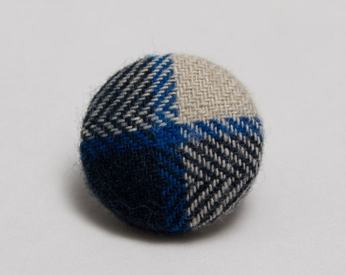 """Out of the Woods"" Plaid Lapel Button"