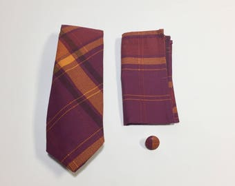 Purple and Orange Plaid Gift Pack