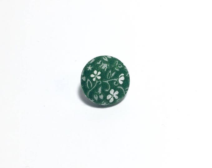 """Caught in the Vines"" Floral Lapel Button"