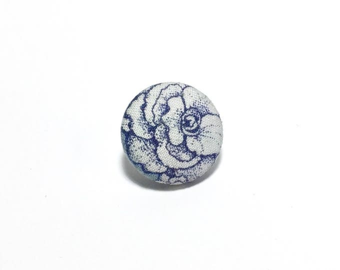 """Flora"" Floral Lapel Button"