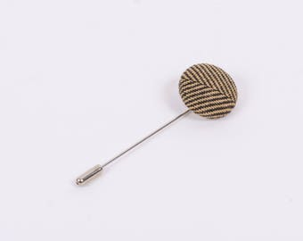 """Show Me the Way"" Herringbone Lapel Button"
