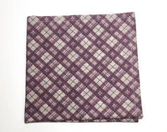 "The ""Prince's Plaid"" Pocket Square"