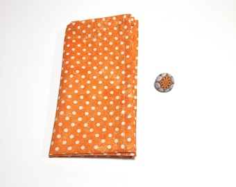 Orange Square and Button Pack