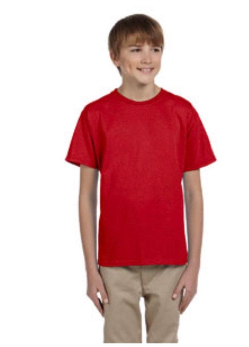 Unisex Gildan Youth Ultra Cotton\u00ae 6 oz T-Shirt short sleeve