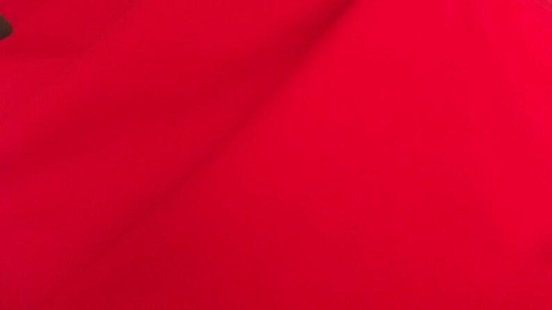 REMNANT Royal Red Cotton Denim