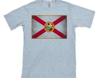 Florida Flag, grunge, distressed, sunshine state, tshirt, tee shirt