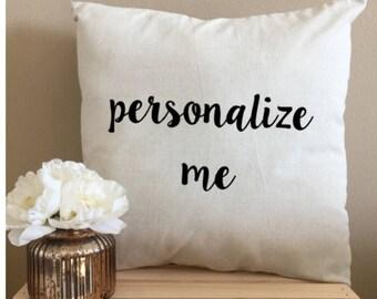 Custom Throw Pillows Personalized Throw Pillows 18 x 18 Pillow Decorative Pillows Wedding Pillow Fun Throw Pillow Unique Custom Pillows