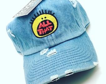 23e90cbbceb Denim Distressed All That Dad Cap Hat