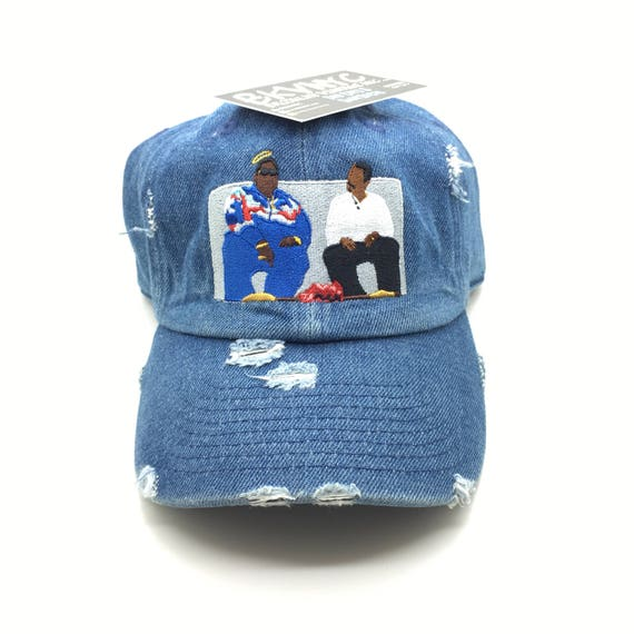 Denim Distressed Biggie On Martin Show Dad Cap Hat  0d380bf5d29