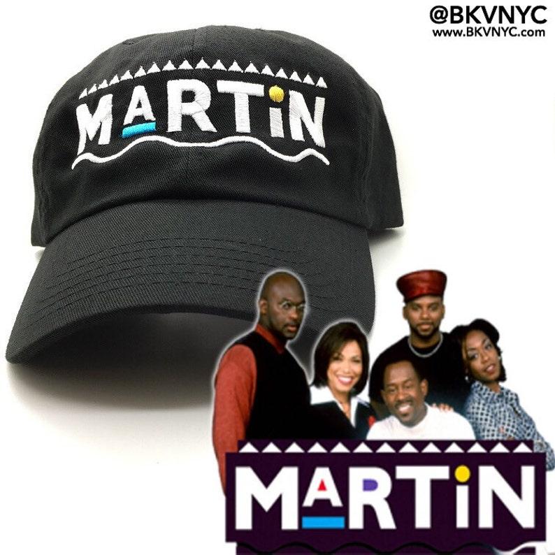012eeee9598 Martin Show Dad Cap Hat OG Custom 90s X Logo Vtg Retro