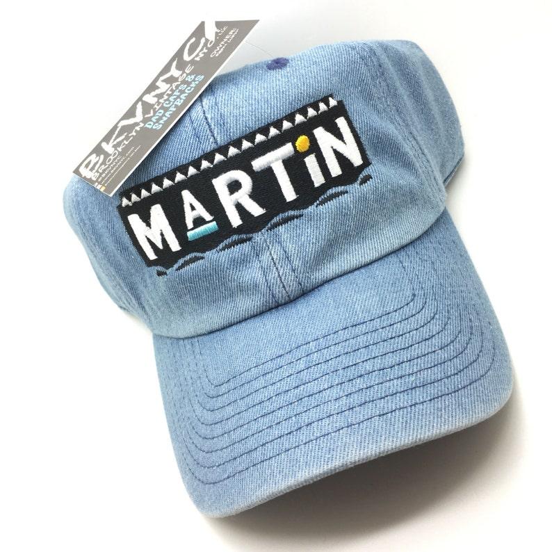 56821e8cf76 Denim Martin Show Dad Cap Hat Rare Exclusive