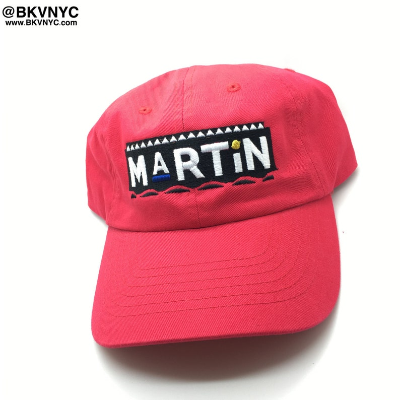 30796d70e70 Red Martin Show Dad Cap Hat 90s Rare Exclusive
