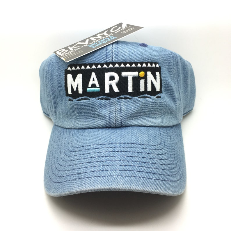 2547ecdf5b7 Denim Martin Show Dad Cap Hat Rare Exclusive