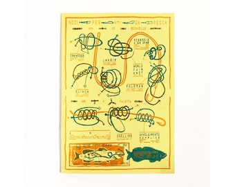 Screen Printed Poster - Fishing Knots