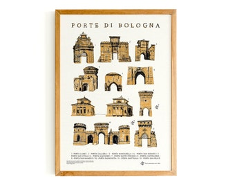 Poster - doors of Bologna