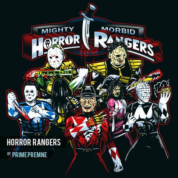 Horror Rangers Horror Movie Icons Inspired Halloween Shirt