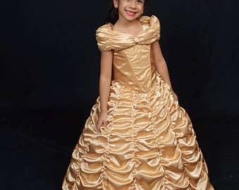 Belle Beauty And The Beast Live Action Inspired Gown Child Etsy