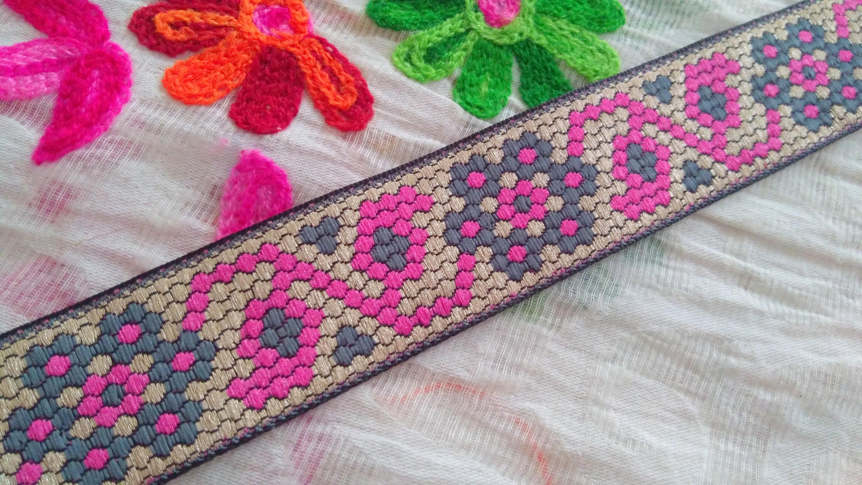 21e4864b66c8 9 yards Jacquard garniture de ruban, tissu Couture garniture par garniture  la Cour Sari Border