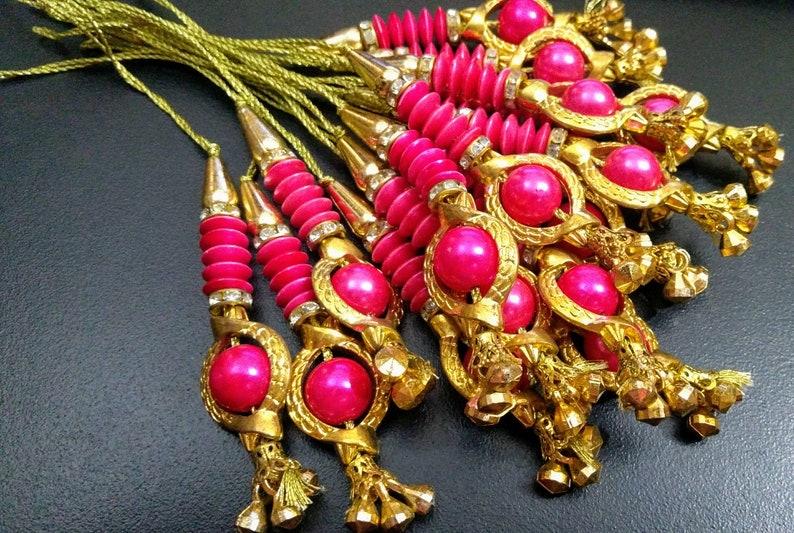 Decorative Tassels Jewelry Tassels Bridal Tassels 1 Pair Beaded Tassels