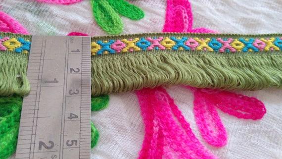 5 verges Boho frange ruban Gypsy Bohème frange Boho frange Bohème garniture indien fringe garniture, garniture à franges, ruban ethnique de garniture, frangé, frange de rétro 30d79a