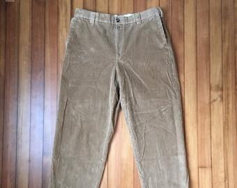 9881ce1c88979 Free US Shipping   Vintage LL Bean Tan Comfort Waist Corduroy Pants   36