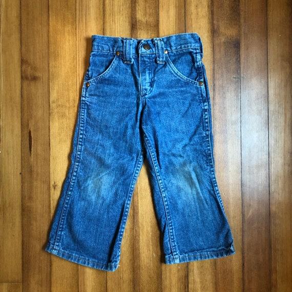 Kids Vintage 1970s Striped Wrangler Pants Striped Jeans Size 6