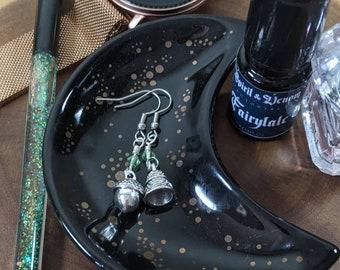 Peter & Wendy Acorn and Thimble Kiss Earrings, Peter Pan Earrings