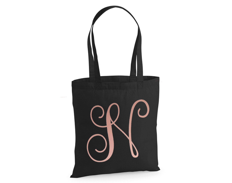 Shopping bag Reusable canvas bag canvas totebag Initial totebag TOTEBAG Alphabet letters totebag
